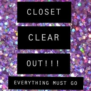 CLOSET CLEAROUT EVERYTHING MUST GO POSHMARK SALE!!